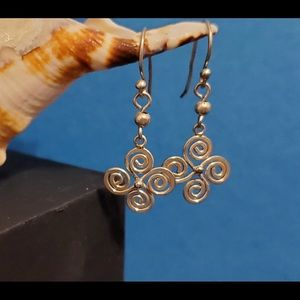 Sterling Earrings with Swirl & Curl Dangles